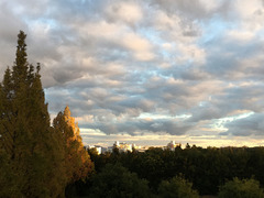 秋の夕刻(木津川市方面)