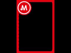 モナカードフレーム1-赤