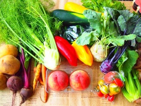 野菜をもらってください